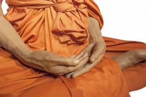 32113319 - isolated monk meditation