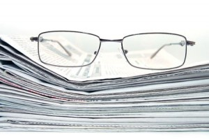5191795 - pile of newspaper with eyeglasses