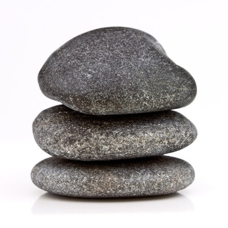 18868563 - isolated stacked stones