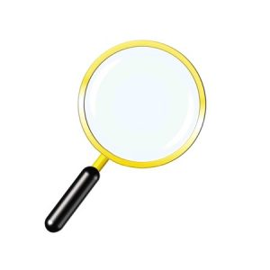 36762702 - simple golden magnifier icon