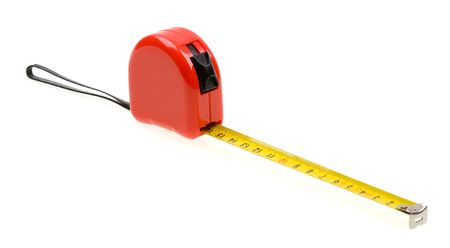 5556456 - red tape measure isolated on white background