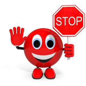 37940786 - stop. illustration with 3d character.