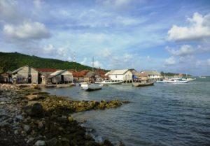 14110270 - fishing village on the coast of karimun islands of java, jepara, central java, indonesia