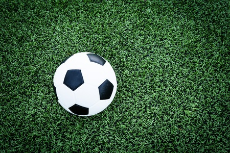 27352172 - soccer ball on soccer field